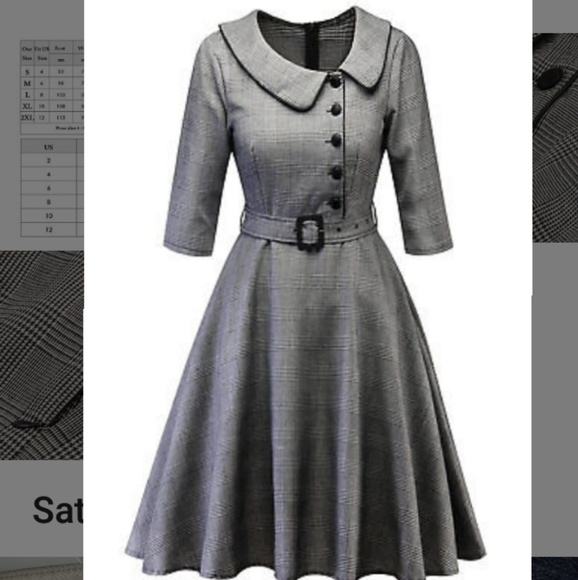 18093a8636078 Dresses | Nwt 1950s Peter Pan Collared Rockabilly Dress | Poshmark